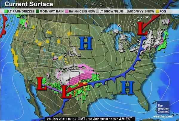 Current Weather Map Texas