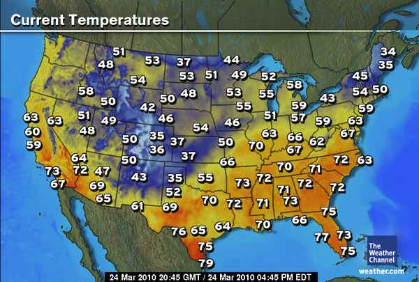 Us Weatherr Map Globalinterco - Weather map for today of us