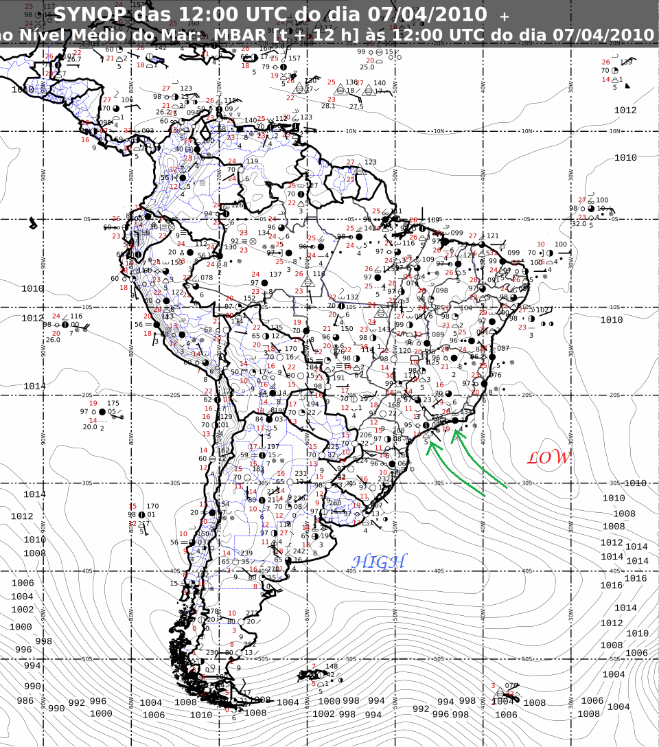 Green Sky Chaser  World Wide Weather  Rio De Janeiro Brazil - Us weather map with high and low pressure