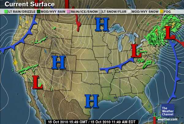 Green Sky Chaser 2010 October – Weather Channel Travel Map