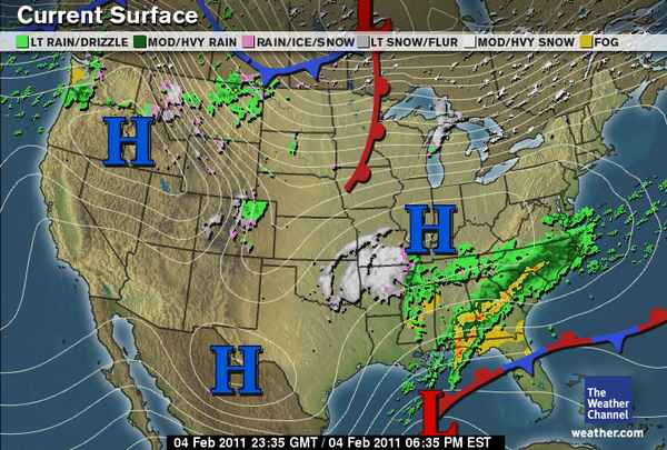 Green Sky Chaser » National Weather Summary and Forecast