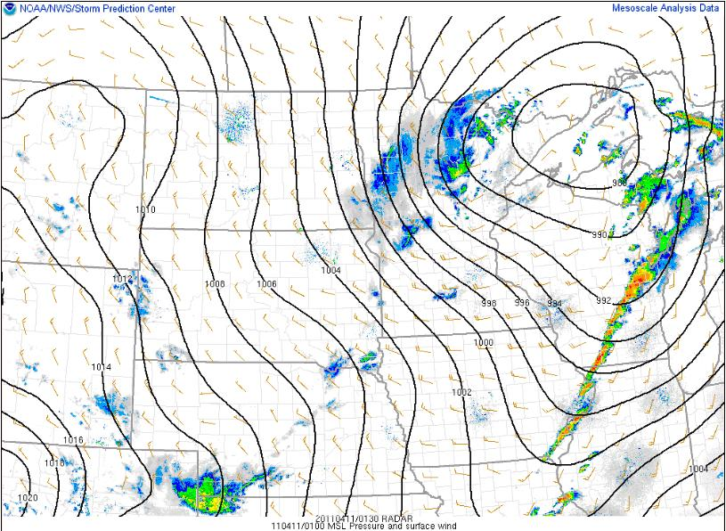 Line On Weather Map Green Sky Chaser » Meteorology 101: Contours and Other Symbols on