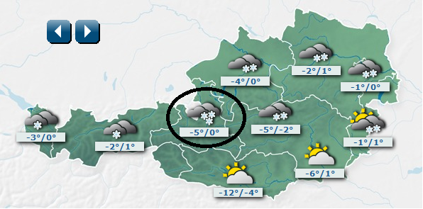 Green sky chaser world wide weather salzburg austria forecast for austria for tuesday morning temperatures in degrees celsius salzburg is circled from austrias central institute for meteorology and gumiabroncs Images